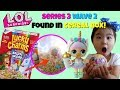 LOL Surprise Confetti Pop wave 2 Unicorn finds LOL Surprise series 3 wave 2 lil sister in Cereal Box