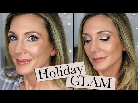 Holiday Glam Makeup Tutorial | Sultry Eye, Dewey Skin! thumbnail