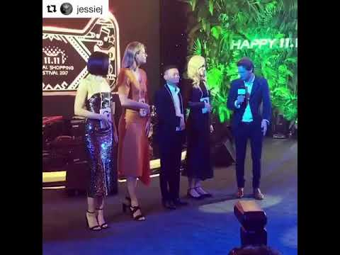 Maria Sharapova, Jessie J, Jack Ma, and Nicole Kidman At The Alibaba Event in Shanghai