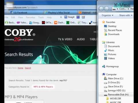Coby Users Need to Convert Files To .MTV