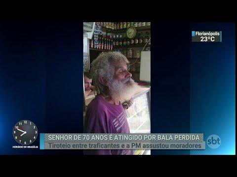 Idoso morre baleado durante confronto entre PM e traficantes no Rio | SBT Brasil (22/03/18)