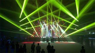 Infinity Intelligent Lights & Showtec Phantoms on stage MIR Rimini 2018 (Live set)
