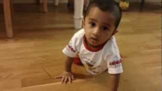 Baby reaction to pressure cooker whistle...