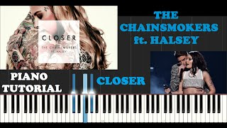 The Chainsmokers ft. Halsey - Closer (Piano Tutorial With Synthesia) Creative Ending