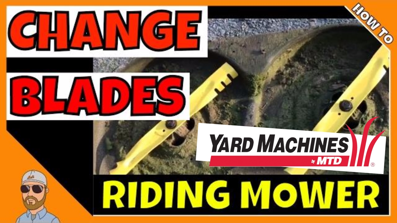 Yard Machines Change Blades | How To Change Blades On Riding Mower | Change  Mower Blades