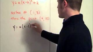 معادلة من الدرجة الثانية من نقطتين
