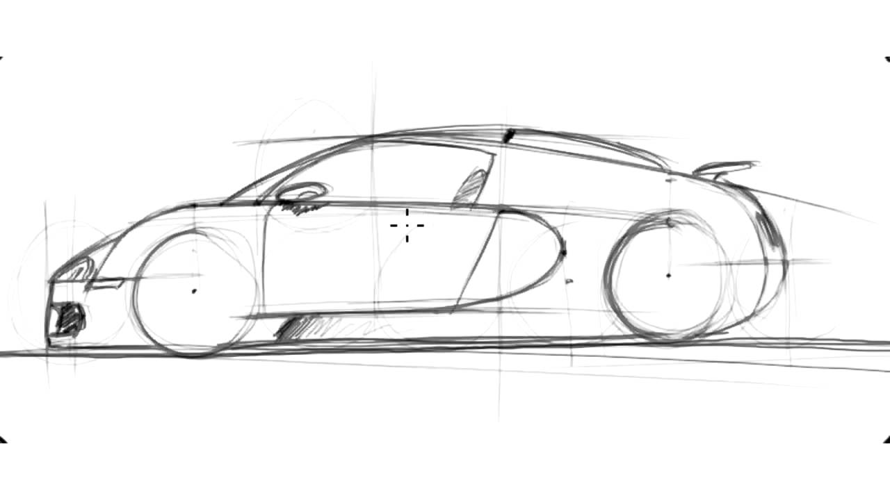 How To Draw A Bugatti Veyron Sketch It Quick Youtube