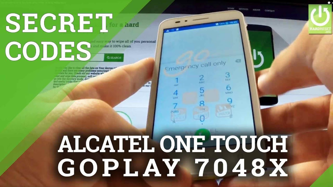 Secret Codes ALCATEL One Touch goPlay 7048X - ALCATEL Hidden Menu