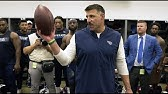 Mike Vrabel's Victory Speech Following Opening-Day Win at Cleveland