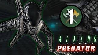Alien Vs Predator (2000) Mission 1   Xenomorph Gameplay