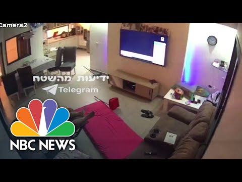 WATCH: Video From Inside Israeli Home As Rocket Strikes Building