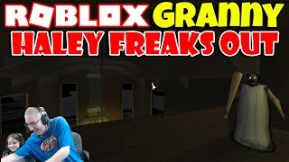 Haley Freaks Out Playing Roblox Granny