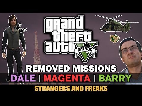 GTA V - Dale, Magenta, Barry [Removed Missions] [Beta Analys