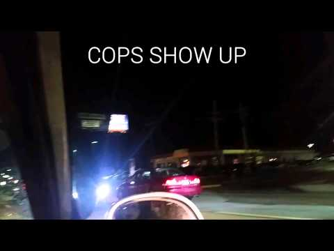 How not to tow a car. Cops