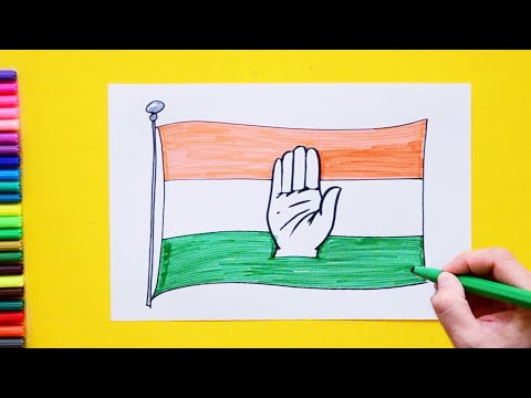 How To Draw Congress Party Symbol India Political Parties Youtube