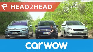 Volkswagen Touran vs Citroen Grand C4 Picasso vs Kia Carens 2017 review | Head2Head