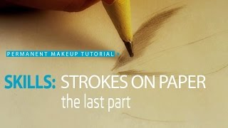 Permanent makeup tutorial: Practice on paper, exercise #3/ Урок татуажа на бумаге №3