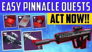Destiny 2 - FAST PINNACLE WEAPONS - Revoker, Mountaintop, Randy's Throwing Knife - ACT NOW