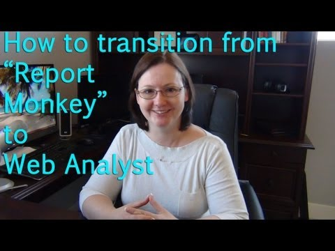 "Transitioning from a ""Report Monkey"" to a Web Analyst"