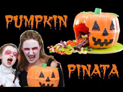 Halloween Pumpkin Pinata Jack Lantern Smash Cake