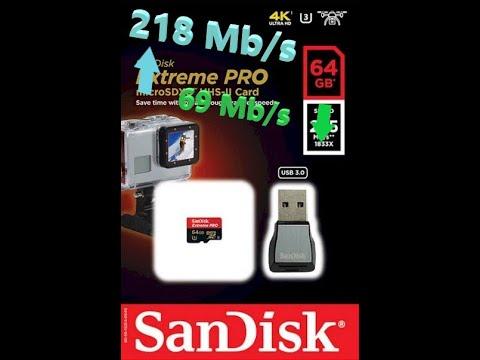 Обзор / Review SANDISK Extreme Pro 64GB UHS-II U3 Class 10