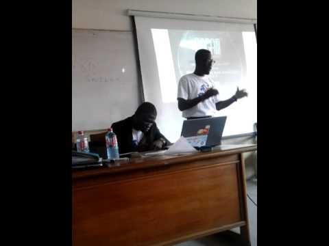 My last academic group presentation in the University of Ghana.