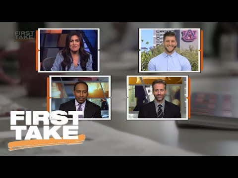 Stephen A. Smith and Tim Tebow have hilarious back-and-forth | First Take | ESPN
