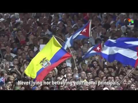 Rafael Correa's Moving Farewell to Fidel