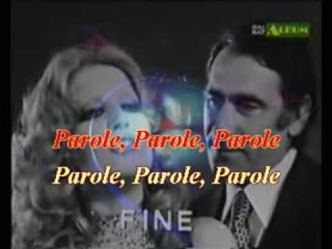 PAROLE PAROLE   Mina   A  Lupo  BY MIKY   VIDEO karaoke