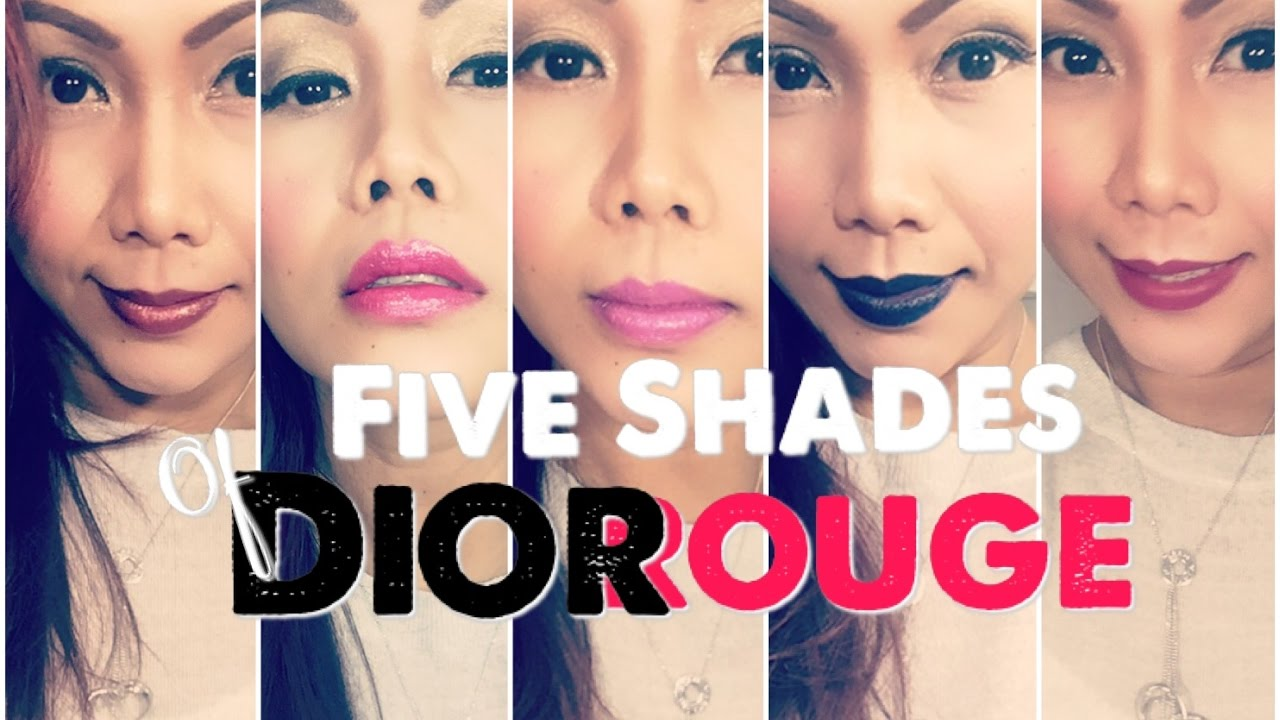 Christian Dior Lipstick Collection Swatches Youtube