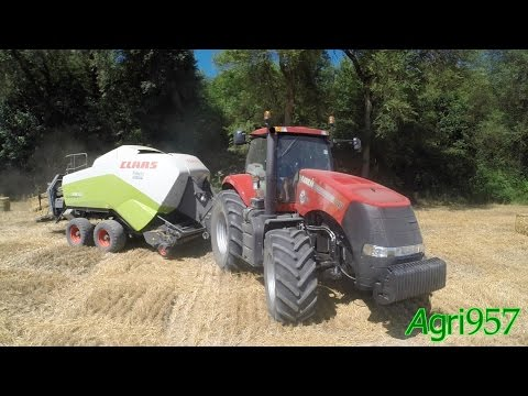 CASE IH MAGNUM 340 & CLAAS QUADRANT 3300 - STRAW BALING in Italy 2015