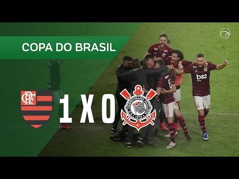 FLAMENGO 1 X 0 CORINTHIANS - GOL - 04/06 - COPA DO BRASIL 2019