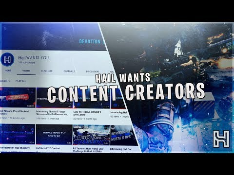 Hail Alliance Wants Content Creators (Informational Video)- Grow Your Channel With Us!