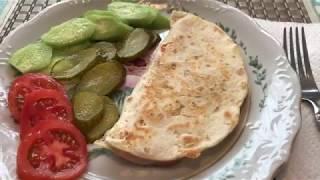 Горячий бутерброд с лепёшкой