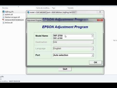 Reset Epson Workforce 2750, Workforce 2760