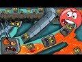 ОГО !!! МУЛЬТИК ПРО КРАСНЫЙ ШАРИК - НАШЕСТВИЕ КВАДРАТОВ ! Игра про шар для детей Red ball 4