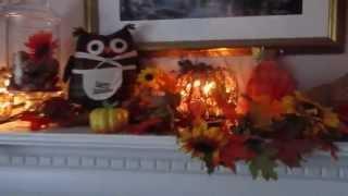 Cheap Fall Decor | Decorating Fall Mantel Inexpensive