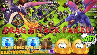 Drag attack failed for first time | clash of clans | Th 9 attacks | GaminG WItH RoY