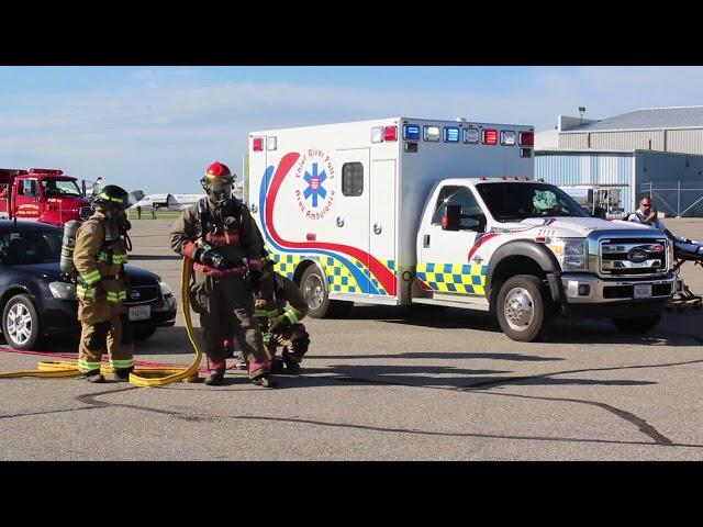 Drill at the Thief River Falls Regional Airport