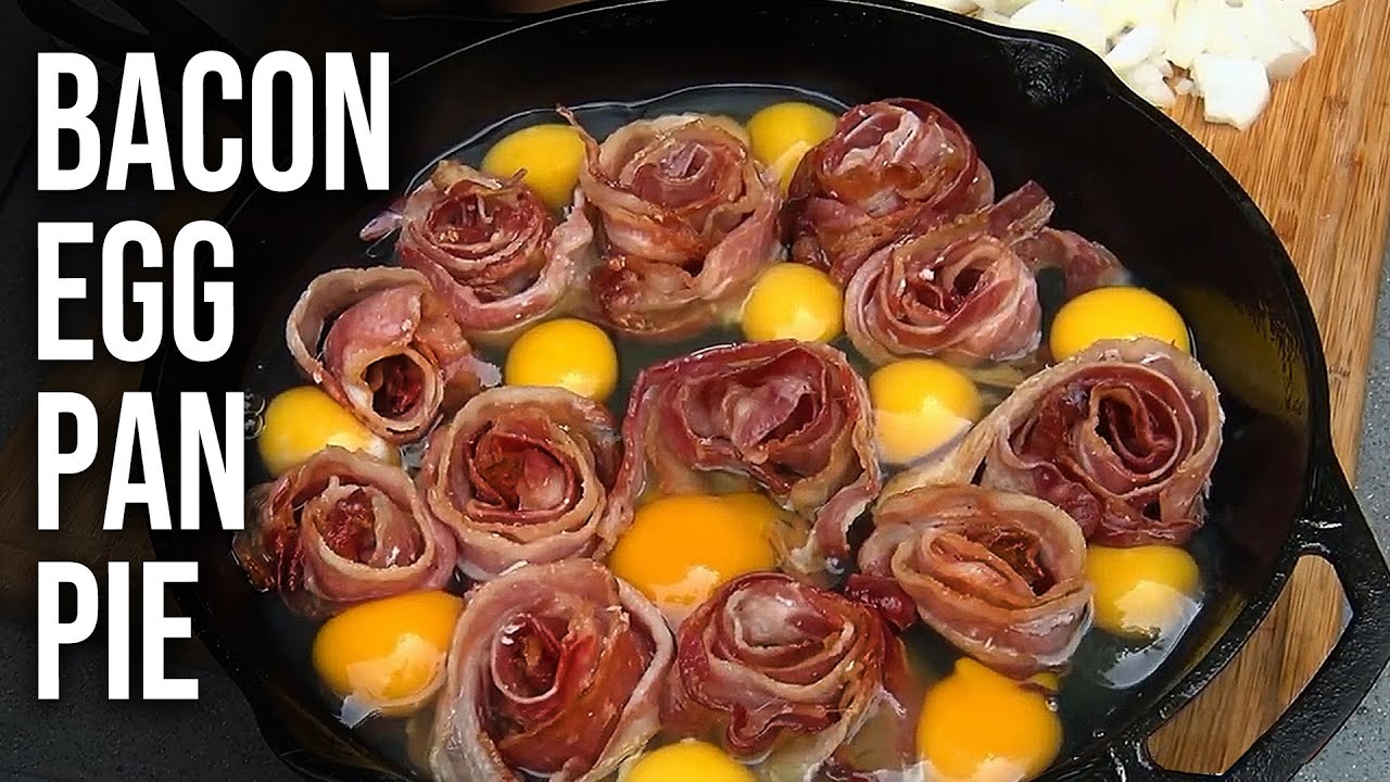 BACON & EGGS PAN PIE   Recipe   BBQ Pit Boys - YouTube