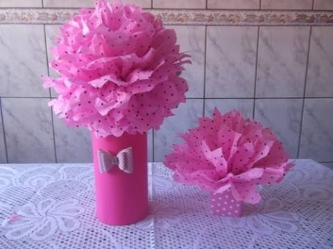 Tutorial Pompom De Papel De Seda Pap Youtube