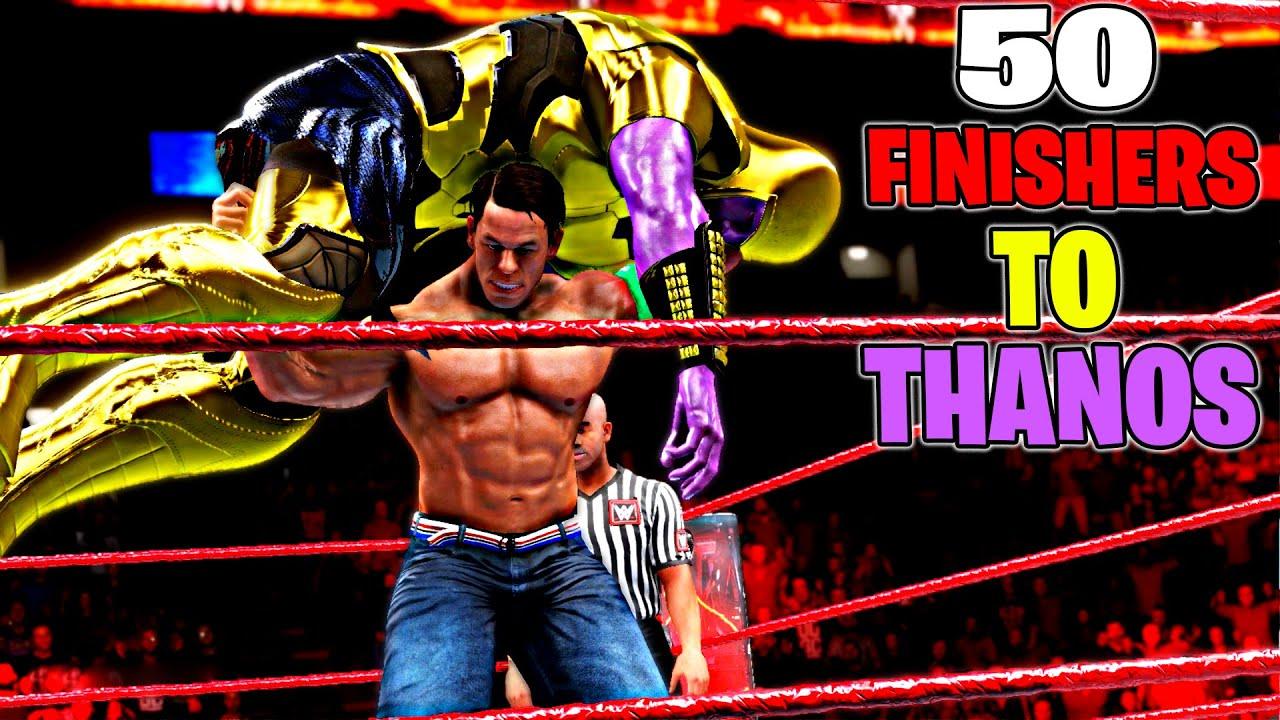 WWE 2K20 50 Finishers To Thanos!