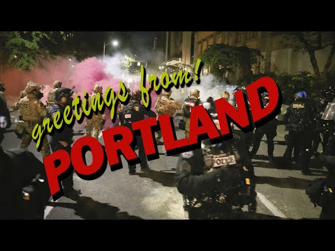 the peaceful protesters of Portland