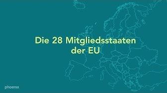 Europa: Die 28 Mitgliedsstaaten der Europäischen Union