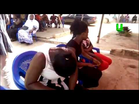 Emotional scenes from Ebony's family house in Sunyani