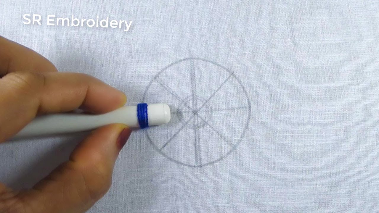 Hand Embroidery Amazing Circle Design,Easy Flower Embroidery Trick,Hand Embroidery Stitch