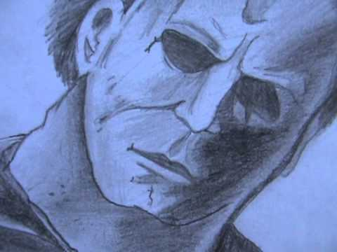 Michael Myers Mask Drawing