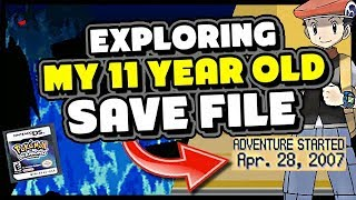 EXPLORING MY 11 YEAR OLD POKEMON DIAMOND SAVE FILE - PokeTipsOfficial