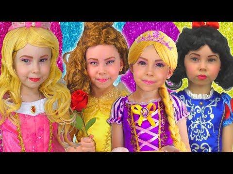 Alisa Dancing in Dresses Princesses Disney