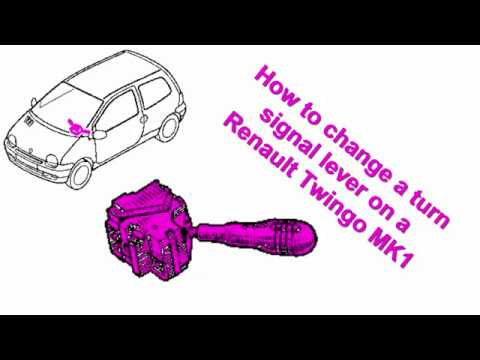 How To Change A Side Lights Lever On A Renault Twingo MK1